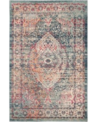 Safavieh Shiloh Distressed Medallion Rug, Blue (Navy)