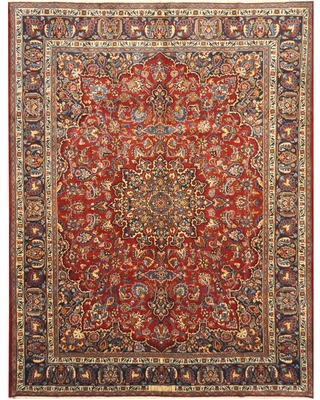 Handmade One-of-a-Kind Kashan Wool Rug (Iran) - 8'8 x 12'10 (8'8 x 12'10)