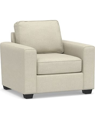 SoMa Fremont Square Arm Upholstered Armchair, Polyester Wrapped Cushions, Basketweave Slub Oatmeal