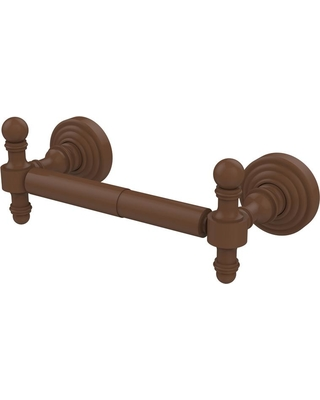 Allied Brass Retro Wave Collection Double Post Toilet Paper Holder in Antique Bronze