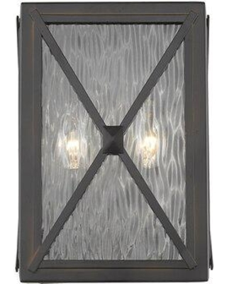 Gracie Oaks Maly 2-Light Outdoor Sconce W000157911