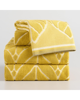 Chartreuse Green Leaf Sculpted Anise Towel Collection by World Market