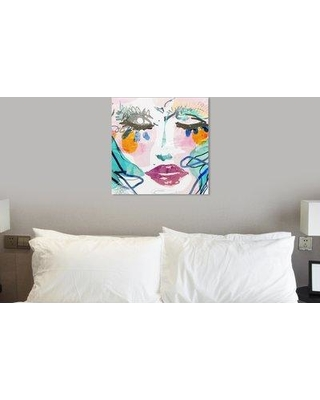 "Mercer41 'Gina' Acrylic Painting Print W000863714 Size: 30"" H x 30"" W x 1.5"" D Format: Wrapped Canvas"