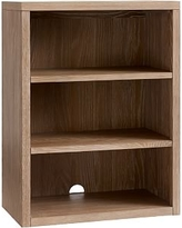 Charlie Bookcase Cubby, Smoked Gray, UPS