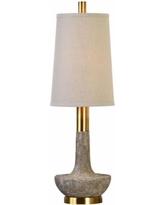 Uttermost Volongo Textured Stone Ivory Table Lamp