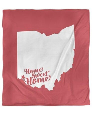 East Urban Home Home Sweet Cincinnati Duvet Cover FCKL3515 Color: Red Fabric: Brushed Polyester