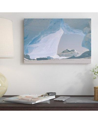 Find Big Savings On East Urban Home Icebergs Caught Photographic Print On Wrapped Canvas Canvas Fabric In Brown Blue Gray Size 24 H X 36 W Wayfair