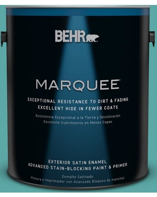 BEHR MARQUEE 1 gal. #500D-5 Teal Zeal Satin Enamel Exterior Paint and Primer in One