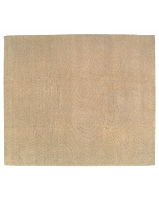 New Deals On Abstract Hand Knotted Wool Silk Beige Area Rug Tufenkian