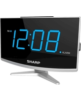 Jumbo Led curved display Alarm Clock Black - Sharp