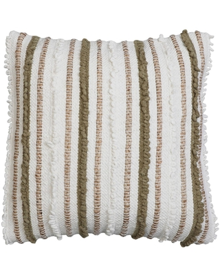 """20""""x20"""" Oversize Kloven Cotton Square Throw Pillow Natural/Green - Decor Therapy"""