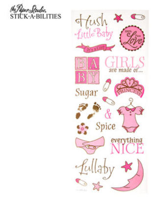 Pink Baby Girl Stickers
