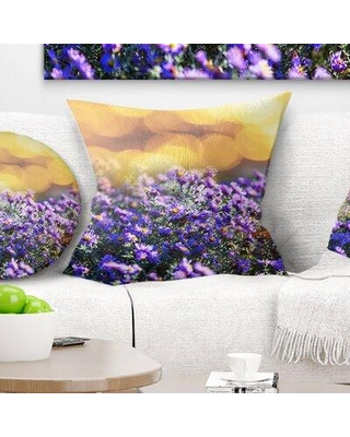 """East Urban Home Flowers Background Pillow FTIF5539 Size: 18"""" x 18"""" Product Type: Throw Pillow"""
