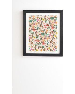 """East Urban Home 'Birdsong' Framed Graphic Art Print on Wood EBHV8395 Size: 16.5"""" H x 14"""" W x 1.5"""" D"""