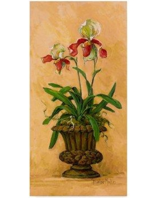 "House of Hampton 'Orchid Revival 2' Acrylic Painting Print on Wrapped Canvas HMPT5322 Size: 32"" H x 16"" W x 2"" D"