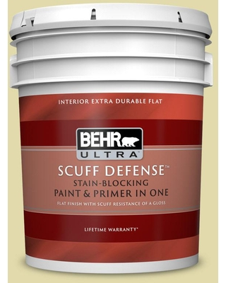 BEHR ULTRA 5 gal. #400C-3 Dried Palm Extra Durable Flat Interior Paint & Primer
