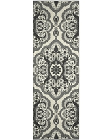 Runner Rug, Maples Rugs [Made in USA][Vivian] 2' x 6' Non Slip Hallway Entry Area Rug for Living Room, Bedroom, and Kitchen - Grey
