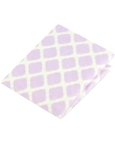 Ben and Noa Fitted Bassinet Flannel Sheet, Lilac Lattice