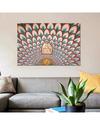 "East Urban Home 'Interior Décor City Palace Jaipur Rajasthan India' Graphic Art Print on Canvas ESUI1428 Size: 26"" H x 40"" W x 0.75"" D"