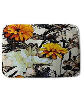 Here S A Great Price On Rochefort Flower Print Designer Rectangle Non Slip Floral Bath Rug Red Barrel Studio
