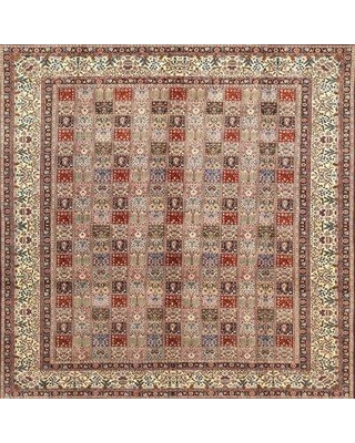 Bloomsbury Market Traditional Red/Beige/Brown Area Rug X112036170 Rug Size: Square 3'