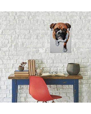 """East Urban Home Clara Bastian 'Boxer' Print on Wrapped Canvas EBIC3777 Size: 60"""" H x 40"""" W x 1.5"""" D"""