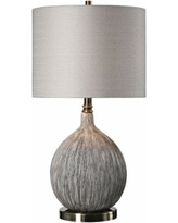 Uttermost Hedera Old Ivory and Aged Black Ceramic Table Lamp