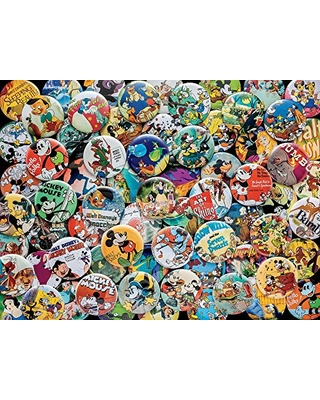 """Ceaco Disney Collections Vintage Buttons Jigsaw Puzzle, 750 Pieces Multi-colored, 5"""""""