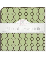 Swaddle Designs Ultimate Receiving Blanket® in Pastel with Brown Mod Circles SD-016PB Color: Lime