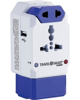 Travel Smart All-In-One Adapter w/ Usb Port