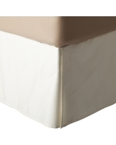 White Wrinkle-Resistant Cotton Bedskirt (Twin) - Threshold
