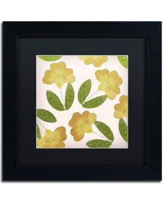 """Trademark Fine Art 'English Garden I' by Color Bakery Framed Painting Print ALI4994-B1 Size: 11"""" H x 11"""" W x 0.5"""" D Matte Color: Black"""