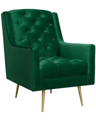 Reese Accent Chair With Gold Legs Emerald - Picket House Furnishings