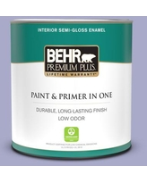 New Savings On Behr Premium Plus 1 Qt M550 4 Wisteria Blue Satin Enamel Exterior Paint And Primer In One