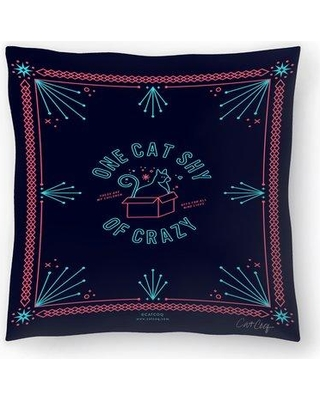 """East Urban Home Cat Coquillette One Cat Shy of Crazy Throw Pillow FCJD2997 Size: 18"""" x 18"""""""