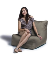 Jaxx Ponce Outdoor Small Outdoor Friendly Bean Bag Chair & Lounger 16390 Upholstery Color: Taupe