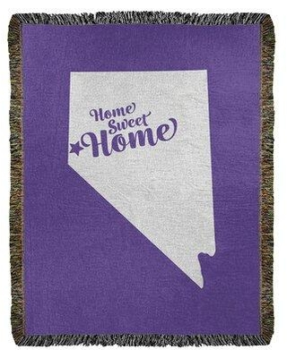 """East Urban Home Home Sweet Reno Woven Blanket EBJC3566 Size: 50"""" W x 60"""" L Color: Purple"""