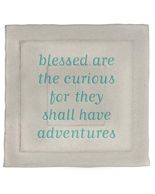 New Deal On East Urban Home Curiosity Inspirational Quote Single Reversible Comforter Polyester Polyfill In White Teal Size King Comforter Wayfair