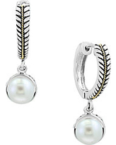 White Pearls and 18K Yellow Gold Drop Earrings