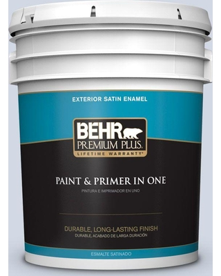 BEHR Premium Plus 5 gal. #S540-1 So Blueberry Satin Enamel Exterior Paint and Primer in One