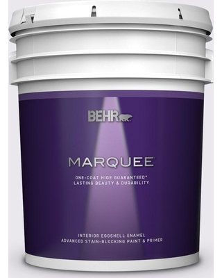 BEHR MARQUEE 5 gal. #PPL-22 Dried Lavender Eggshell Enamel Interior Paint and Primer in One