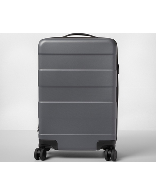 """Hardside 20"""" Carry On Spinner Suitcase Dark Gray - Made By Design"""