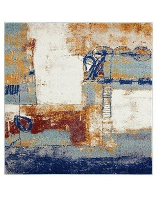Wrought Studio Bellicent Abstract Multicolor Area Rug W002575410 Rug Size: Rectangle 5' x 7'