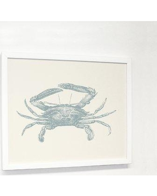 "Highland Dunes Natural Crab' Graphic Art Print HLDS2013 Size: 20"" H x 24"" W x 1.25"" D Format: White Framed"