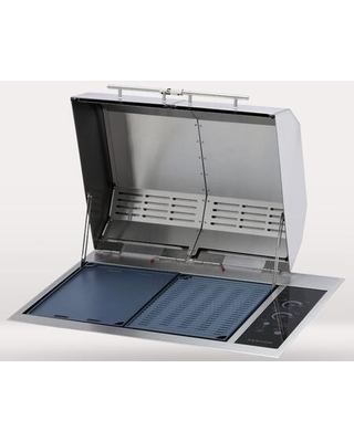B70425NH Texan Built-In Grill with IntelliKEN Touch Control Two 1500 Watts Elements 310 sq. in. Grilling Area 240 Volts 13 Amps (No Mounting