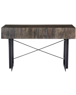 Tiburon Collection SR-1019-24 Console Table with Iron Base in Natural