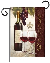 The Best Sales For Fleur De Lis Living Mcgriff Welcome Wines Happy Hour Drink 2 Sided Polyester 19 X 13 In Garden Flag In Red Wayfair