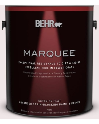 BEHR MARQUEE 1 gal. #690E-1 Shell Brook Flat Exterior Paint and Primer in One