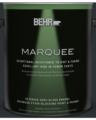 BEHR MARQUEE 1 gal. #ecc-25-3 Obsidian Stone Semi-Gloss Enamel Exterior Paint and Primer in One