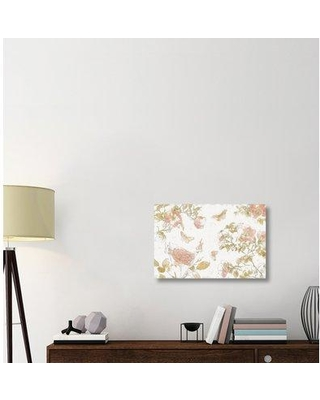 """East Urban Home 'Watery Blooms I' Print on Canvas ERBR1531 Size: 20"""" H x 30"""" W x 1.5"""" D"""